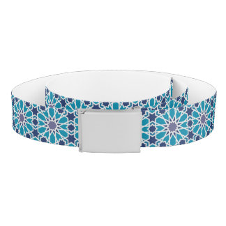Abstract Pattern In Blue And Grey Belt