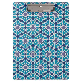 Abstract Pattern In Blue And Grey Clipboard