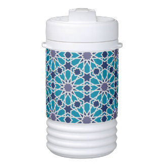 Abstract Pattern In Blue And Grey Cooler