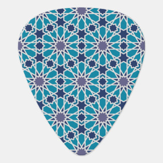 Abstract Pattern In Blue And Grey Guitar Pick