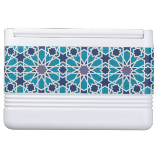 Abstract Pattern In Blue And Grey Igloo Cool Box