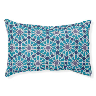 Abstract Pattern In Blue And Grey Pet Bed