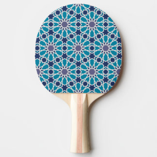 Abstract Pattern In Blue And Grey Ping Pong Paddle