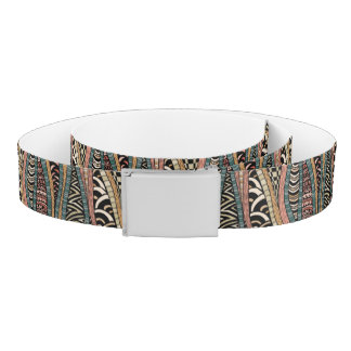 Abstract pattern in ethnic style belt