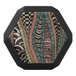 Abstract pattern in ethnic style black bluetooth speaker
