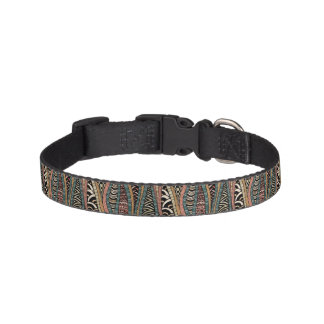 Abstract pattern in ethnic style pet collar