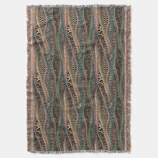 Abstract pattern in ethnic style throw blanket