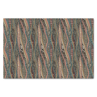 Abstract pattern in ethnic style tissue paper