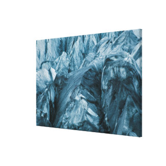 Abstract Pattern in Glacier | Iceland Canvas Print