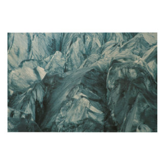 Abstract Pattern in Glacier   Iceland Wood Wall Decor