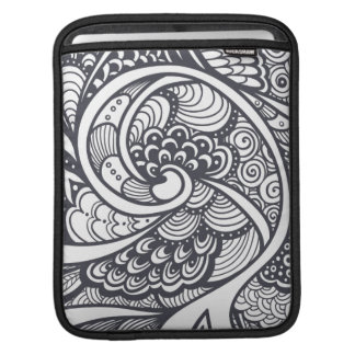 Abstract Pattern In Zen-Doodle Style iPad Sleeve