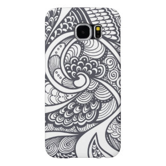 Abstract Pattern In Zen-Doodle Style Samsung Galaxy S6 Cases