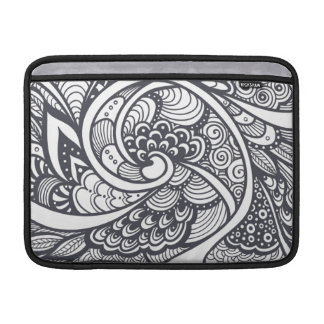 Abstract Pattern In Zen-Doodle Style Sleeve For MacBook Air