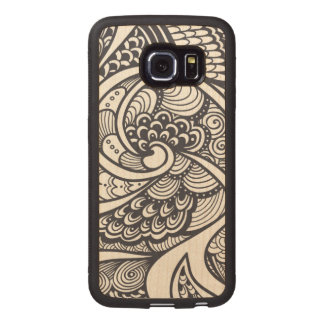 Abstract Pattern In Zen-Doodle Style Wood Phone Case