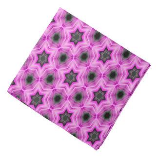 Abstract Pattern Lilac And Dark Gray Background Bandana