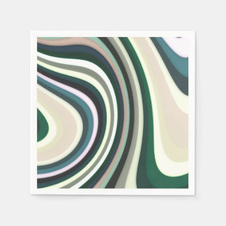 Abstract Pattern Lines Disposable Serviettes