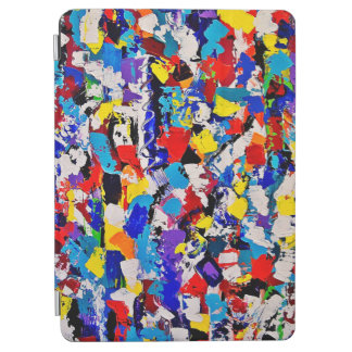 Abstract Pattern Multicolor Colorful Paint Dab iPad Air Cover