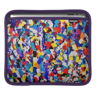 Abstract Pattern Multicolor Colorful Paint Dab iPad Sleeve