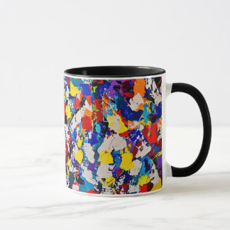 Abstract Pattern Multicolor Colorful Paint Dab Mug