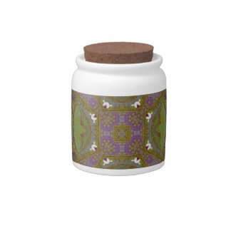 Abstract Pattern multicolored Candy Jars