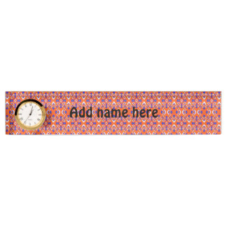 Abstract pattern name plate