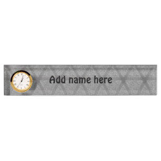 Abstract pattern nameplate