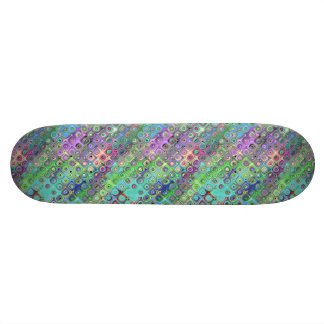 Abstract Pattern of Colorful Shapes Custom Skate Board