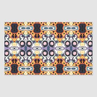 Abstract Pattern of Colors Rectangular Sticker