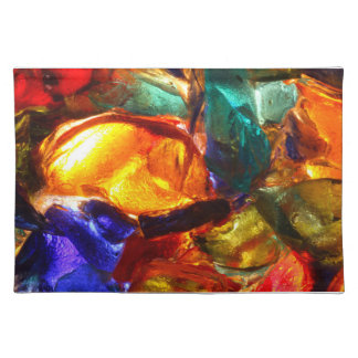 Abstract pattern of stained glass cloth placemat