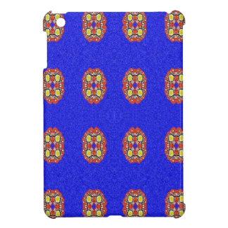 Abstract pattern on blue background case for the iPad mini