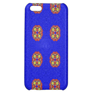 Abstract pattern on blue background cover for iPhone 5C