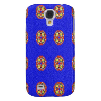 Abstract pattern on blue background galaxy s4 case