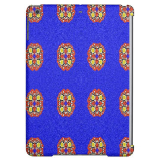 Abstract pattern on blue background iPad air case