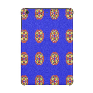 Abstract pattern on blue background iPad mini cover