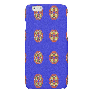 Abstract pattern on blue background iPhone 6 plus case