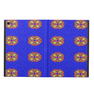 Abstract pattern on blue background powis iPad air 2 case