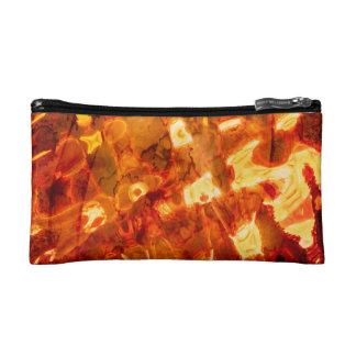 Abstract Pattern Orange Light Effect Makeup Bag