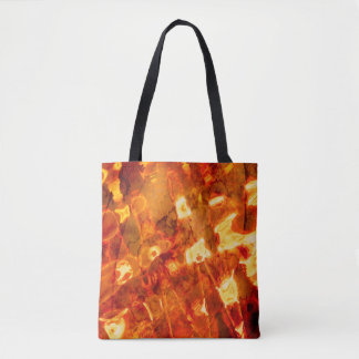 Abstract Pattern Orange Light Effect Tote Bag
