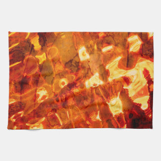 Abstract Pattern Orange Light Effect Towels