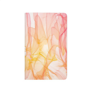 Abstract Pattern Pink And White Background Journal