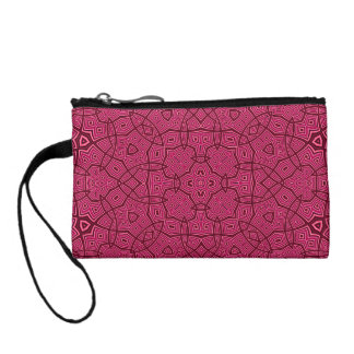 Abstract Pattern pink Coin Purse