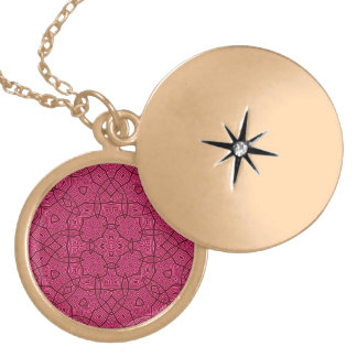 Abstract Pattern pink Locket