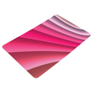 Abstract Pattern Pink Wave Floor Mat