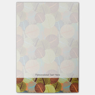Abstract pattern post-it notes