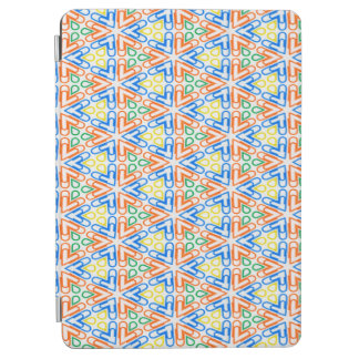 Abstract Pattern Pretty Blue Red And Yellow iPad Air Cover