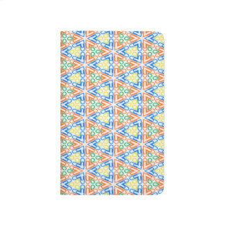 Abstract Pattern Pretty Blue Red And Yellow Journal