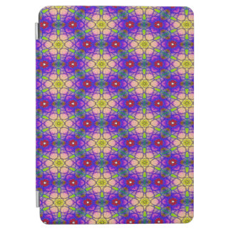 Abstract Pattern Pretty Green Lilac And Red iPad Air Cover