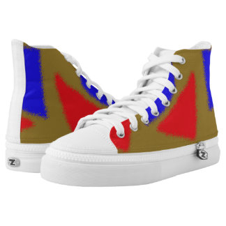 abstract pattern printed shoes