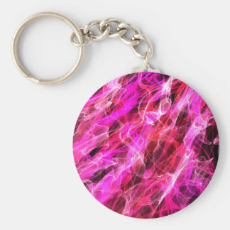 Abstract Pattern Purple And White Haze Key Ring