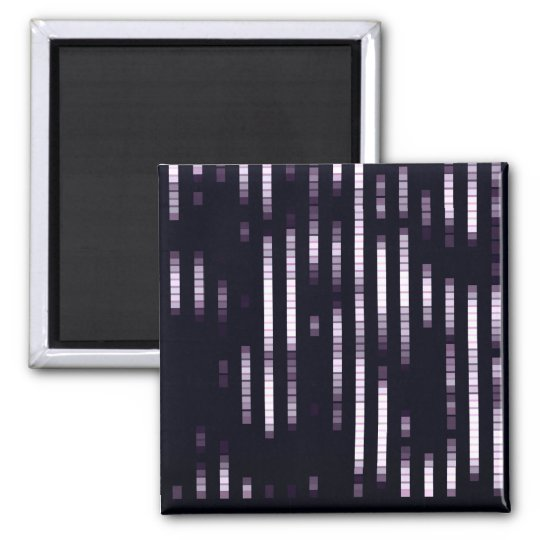 Abstract Pattern Purple And White Lights Magnet